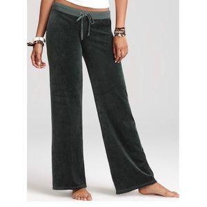 Juicy Couture Velour Sweat Pant/Track Pants Gray L